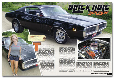 Featured in the March 2011 issue of Mopar Collector's Guide Magazine