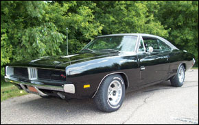 Black 1969 Charger